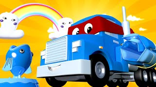 Special Summer- The soaker sprinkler truck  - Carl the Super Truck - Car City ! Trucks Cartoons