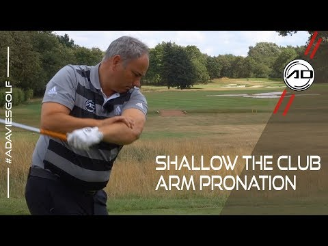 How To Shallow The Club - Arm Pronation - YouTube