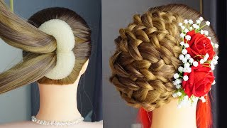 French Braid Hairstyles For Beginners French Bun Hairstyle Trick French Roll