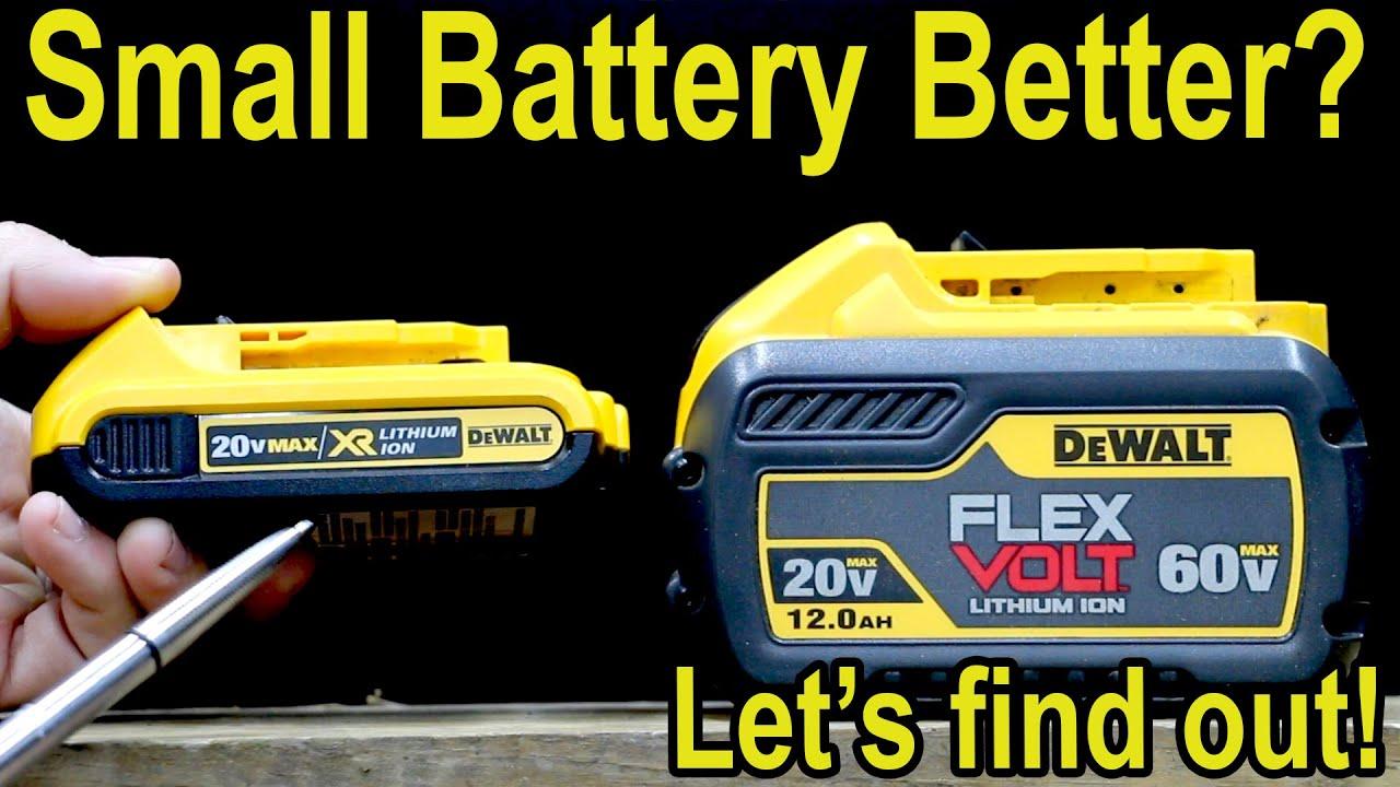 """Smaller """"TOOL"""" Battery Better? Milwaukee, DeWalt, Makita, 2 Amp Hour vs 12 Amp Hour Battery"""
