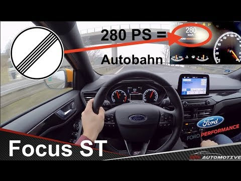 TOP SPEED | 280 Km/h In New Ford Focus ST | AUTOBAHN POV Drive + Acceleration 0 - 200 Km/h