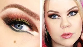 Acid Green & Burgundy Makeup Tutorial