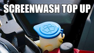 How to top up your Car Windscreen Washer Fluid under the bonnet