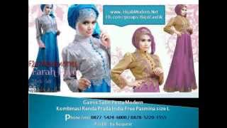 Gamis Satin Pesta #Gamis Pesta Terbaru HijabModern.Net
