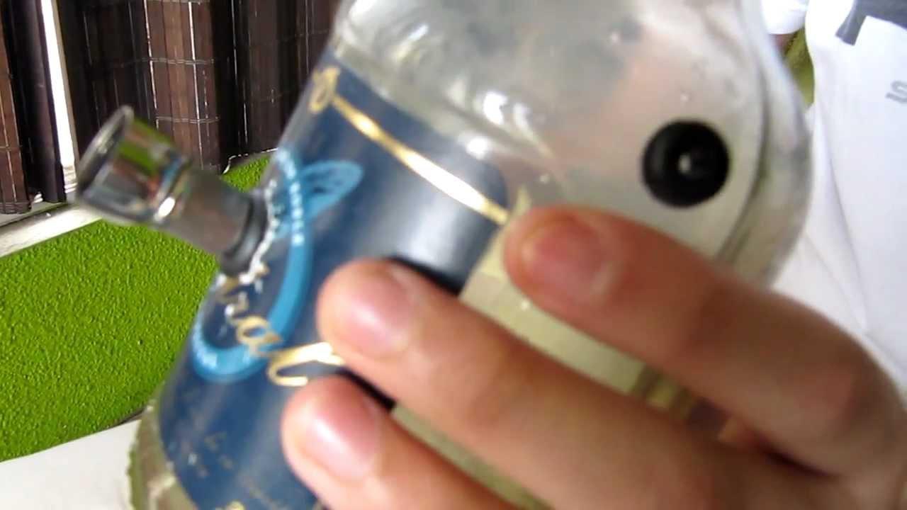 Bong botella vidrio youtube - Hacer cachimba casera ...