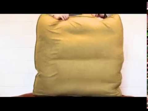 How to plump feather fibre cushions