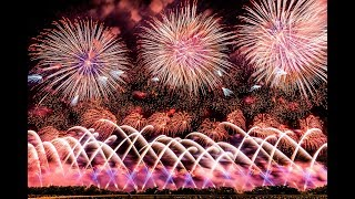 赤川花火 2018 エンディング 紅屋青木煙火店 [4k] Akagawa Fireworks Festival Japan
