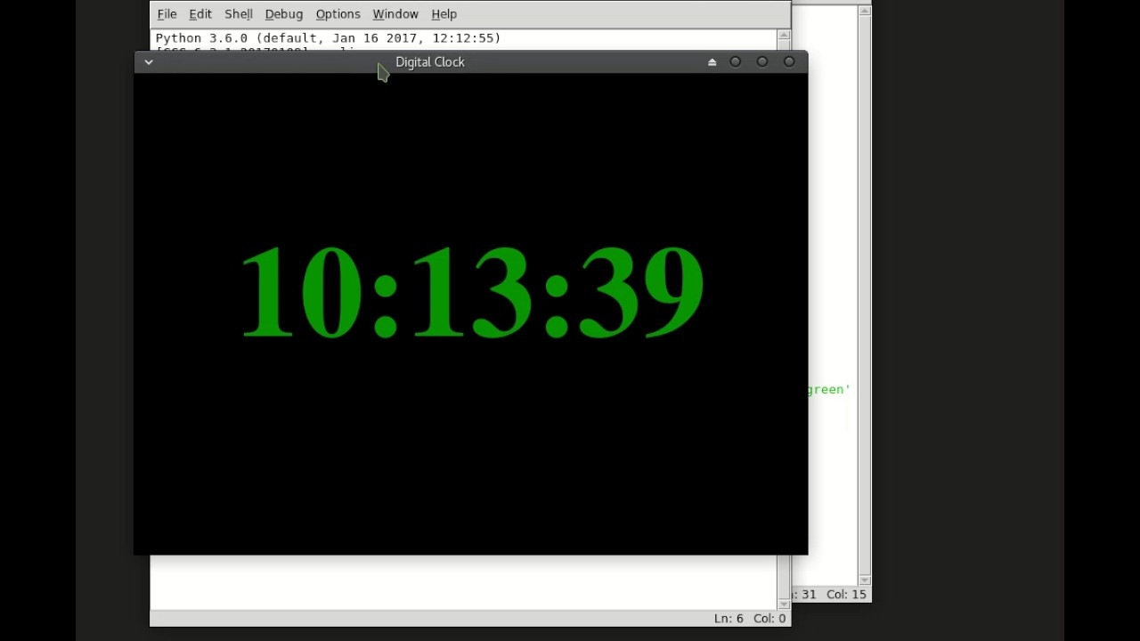 A Digital Clock with Python and Tkinter