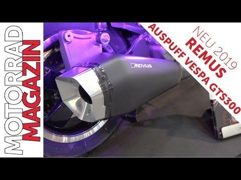 Remus für Vespa GTS  - Sportauspuff mit neuer Form und edler Endkappe