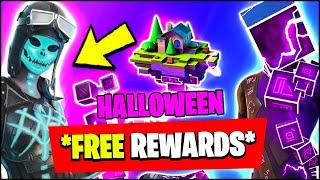 Fortnite HALLOWEEN Update - ALL NEW SKINS & FREE REWARDS (CUBE SKIN)