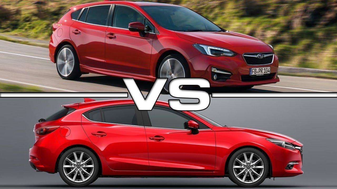 2018 Subaru Impreza vs 2017 Mazda 3 - YouTube