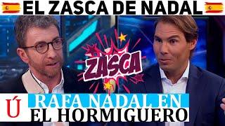 El monumental zasca de Rafa Nadal a Pedro Sánchez en El Hormiguero de Pablo Motos