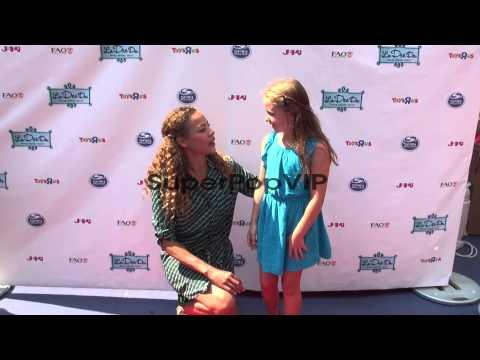 Tawny Cypress and her niece Emma at La Dee Da Official La...