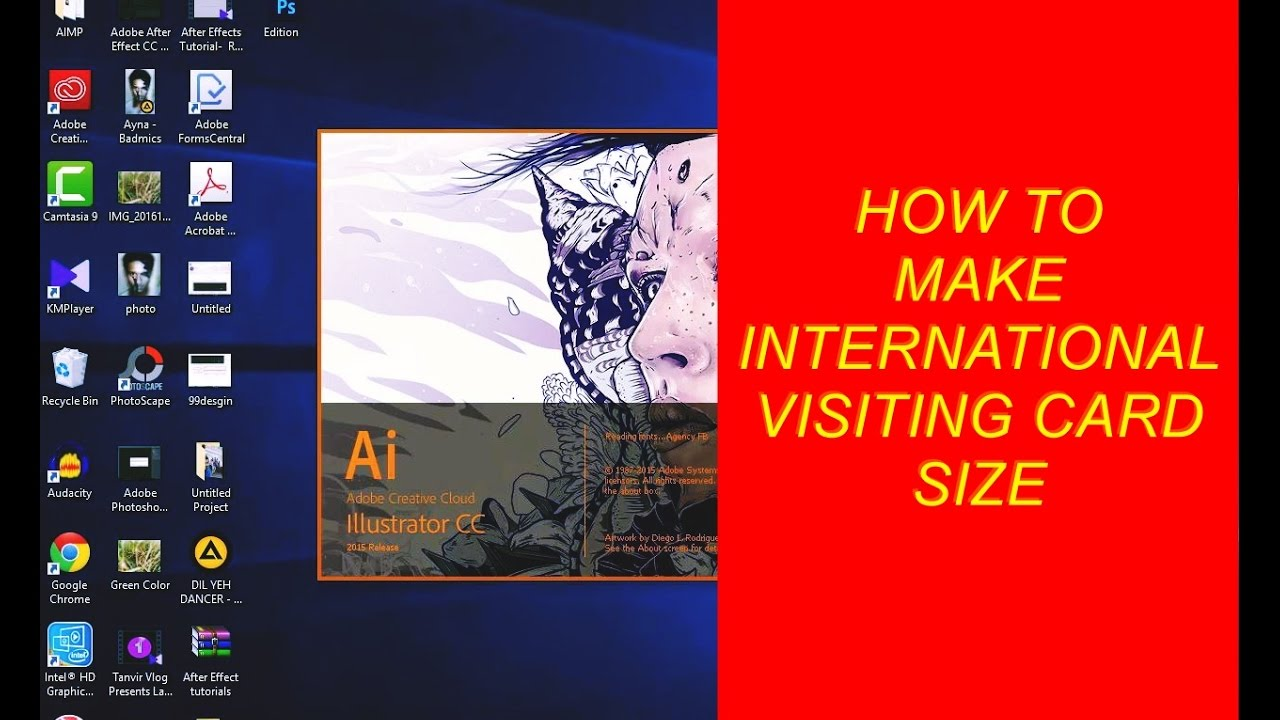 How to Make International Visiting Card Size Print - YouTube