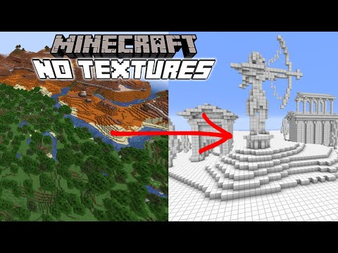 Can you Build in Minecraft with No textures?! ft. @Skip the Tutorial