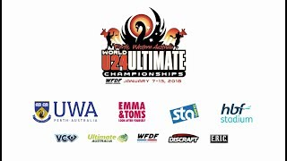 WFDF World Under 24 Ultimate Championship: Japan vs USA  - Women's