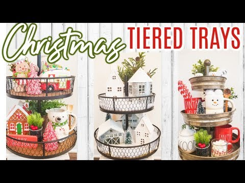 CHRISTMAS DECORATE WITH ME | HOW TO STYLE A TIERED TRAY | Cook Clean And Repeat