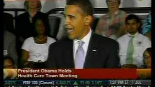 Obama Holds Town Hall Meeting on Healthcare - Bloomberg