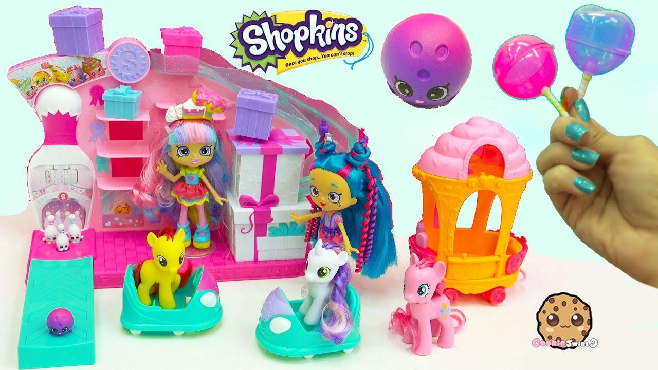 Season 7 Shopkins Party Game Arcade Bumper Cars + Shoppies, My Little Pony + Surprise Blind Bags
