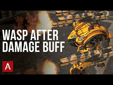 How Deadly Are Max Level Wasp Weapons After The Buff? / Spectre Wasp MK2 | War Robots Gameplay