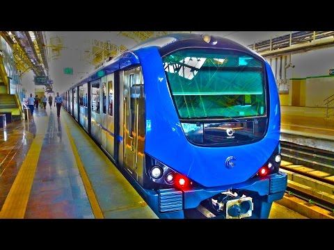 Chennai Metro Rail - CMRL from Alandur to Ekkaduthankal 1080p HD