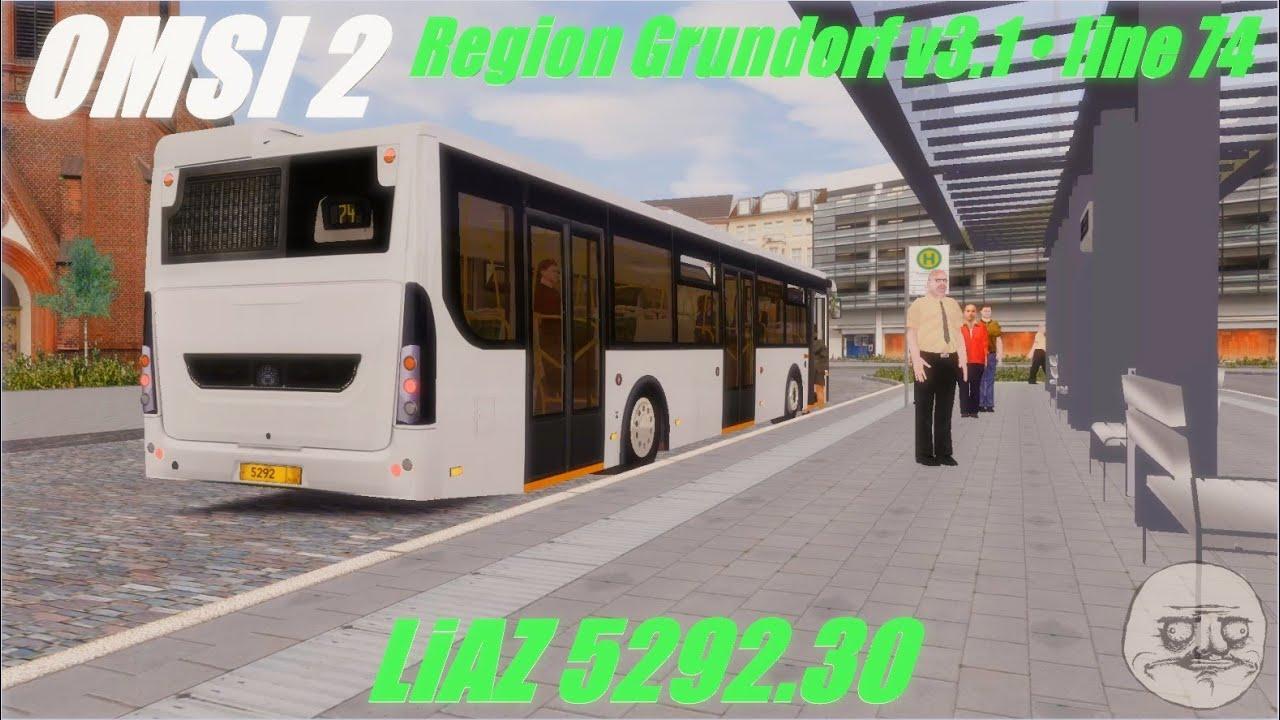 OMSI 2 • Region Grundorf v3 1 (line 74) • LiAZ 5292 30