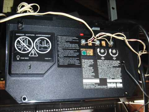 sears chain drive garage door opener gear replacement wmv Overhead Door Wiring Diagram