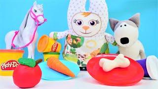 Play doh hamur oyunları. Oyun hamuru videoları Elma, havuç ve kemik yapımı