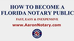 HOW TO BECOME A FLORIDA NOTARY AARON NOTARY