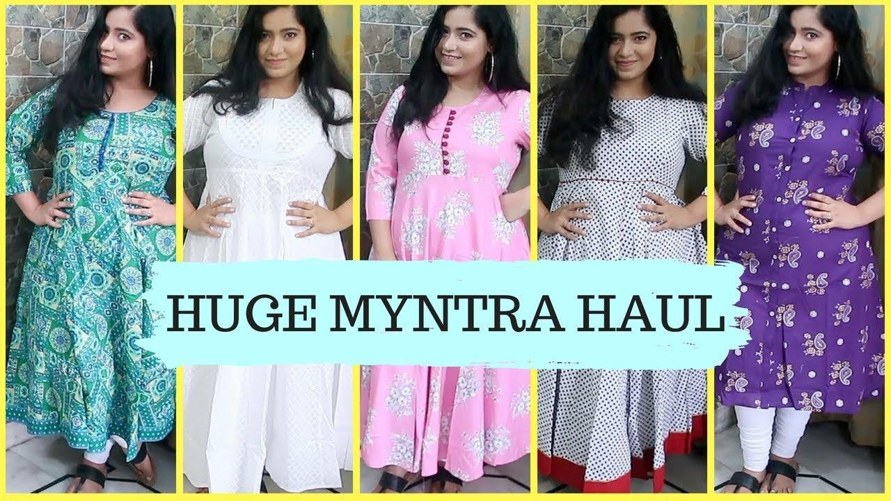 Myntra Kurti Haul 2018 All Under Rs 1000 Online Shopping