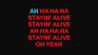 Bee Gees- Staying Alive ( with Lyrics )[HD]