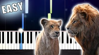 "Can You Feel the Love Tonight (From ""The Lion King"") - EASY Piano Tutorial by PlutaX"
