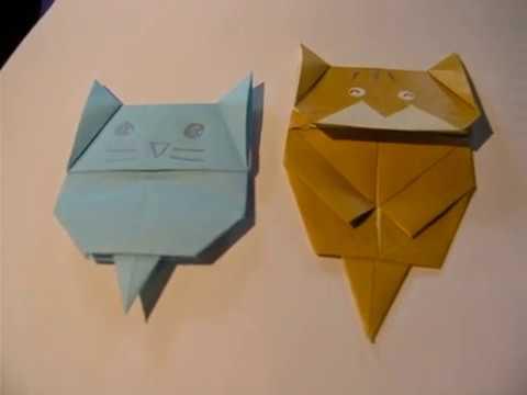 Origami Cat Bookmark Kamikey Youtube