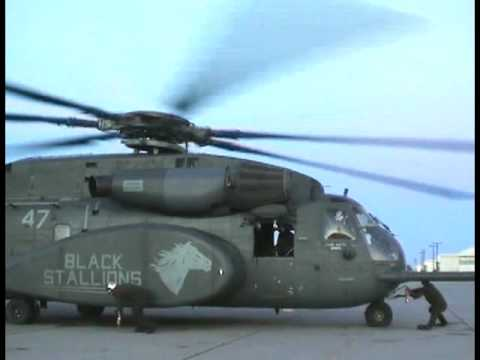 MH 53 Navy Helicopter Raw Video