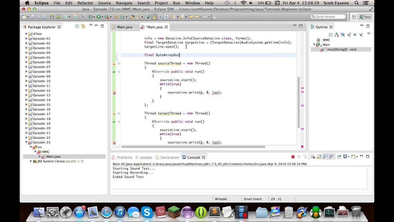 Java Tutorials: Episode 23 - Java Sound API