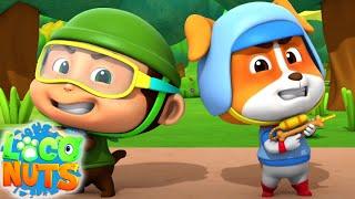 пейнтбольный бой | мультфильмы для детей | веселые | Loco Nuts Russia | детские видео