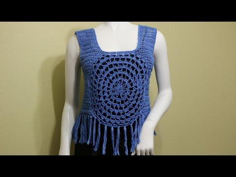 1647a23ee Blusa con Flecos Crochet