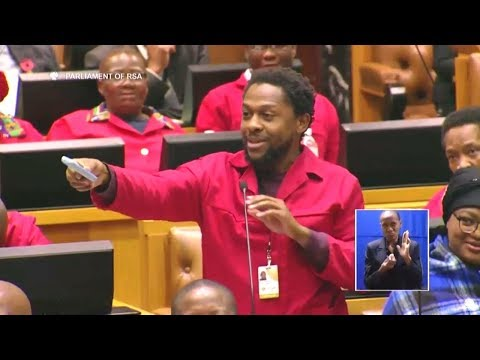 Dr Ndlozi Offers Malusi Gigaba A Phone Without A Camera - Funny Parliament