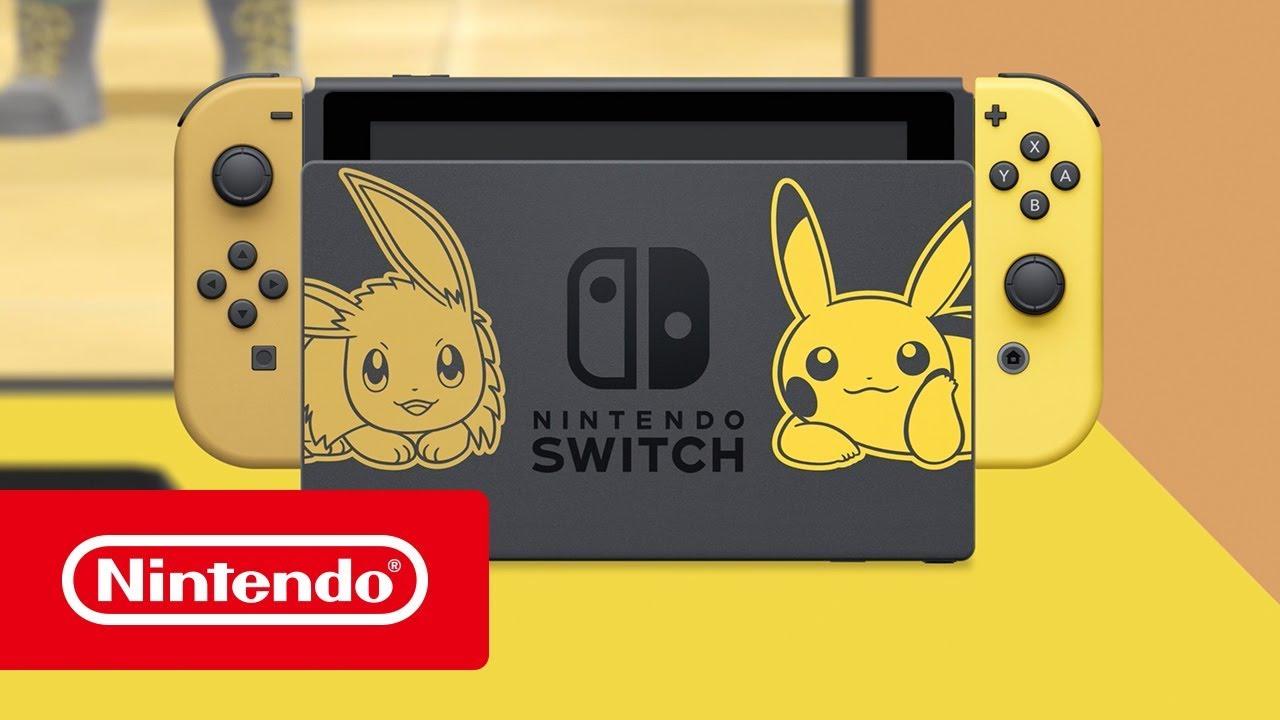 Nintendo Switch Edicion Pikachu E Eevee Trailer Youtube