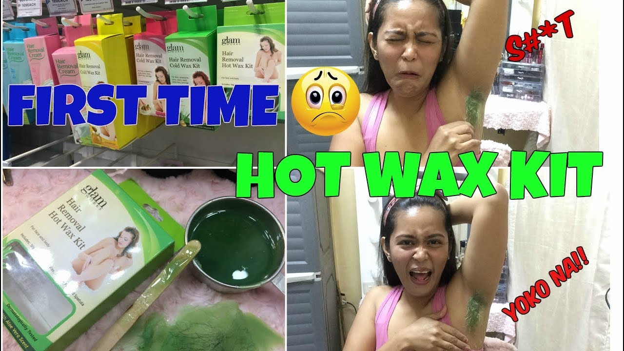 Waxing My Armpit For The First Time Hot Wax Youtube