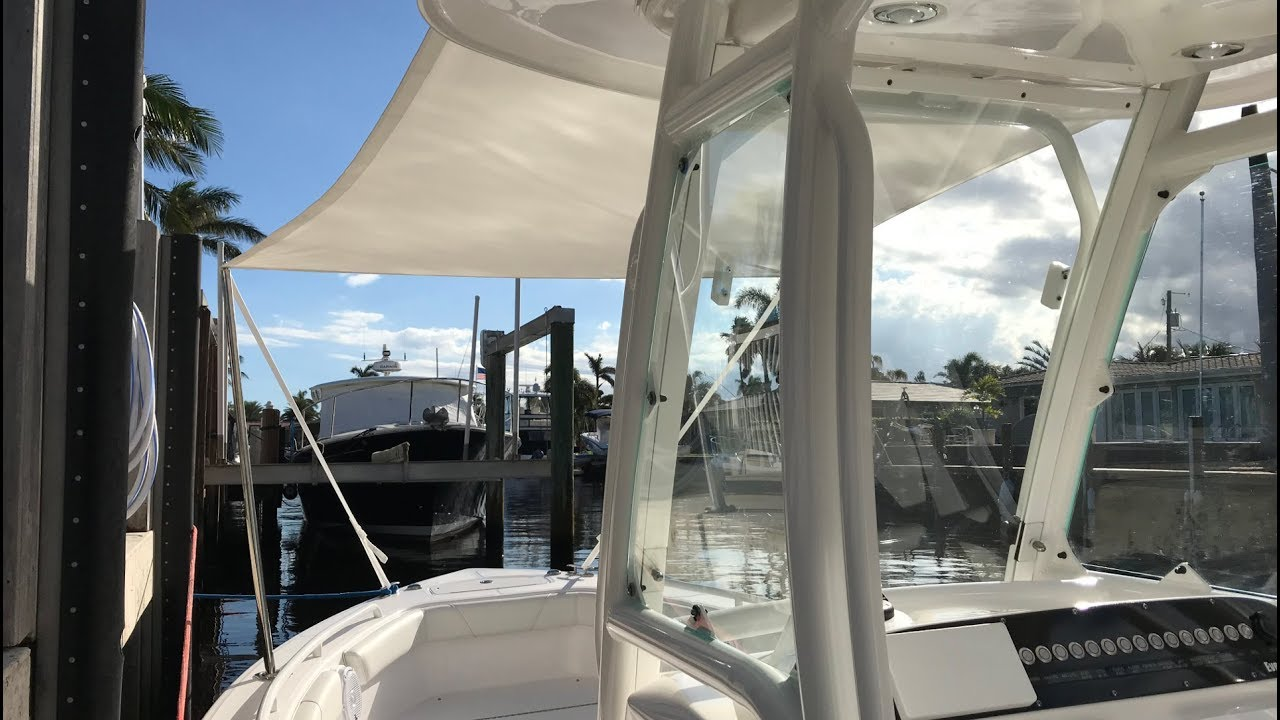 Quick and EASY-Add Shade to Your Boat! 243 Everglades Forward Sunshade
