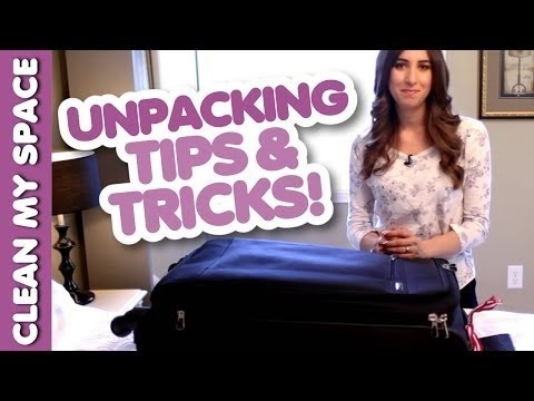 Melissa's Unpacking Routine! Luggage Care: How to Stay Organized & Clean for Travel (Clean My Space)