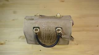 f8671dc1f4c8 Видео обзор итальянской сумки Vera Pelle 5178 SORELLA для магазина  BorsaToscana.ru