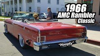 Cruising the 1966 AMC Rambler to see a Car Show
