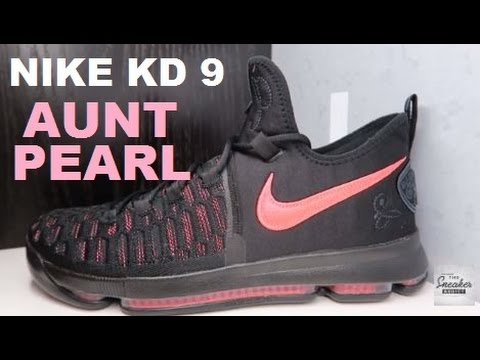 c050fef3ba6a0 NIKE KD 9 AUNT PEARL SNEAKER DETAILED LOOK WITH DELZ - YouTube
