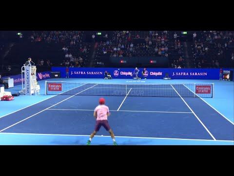 ATP Basel Swiss Indoors court level 4K