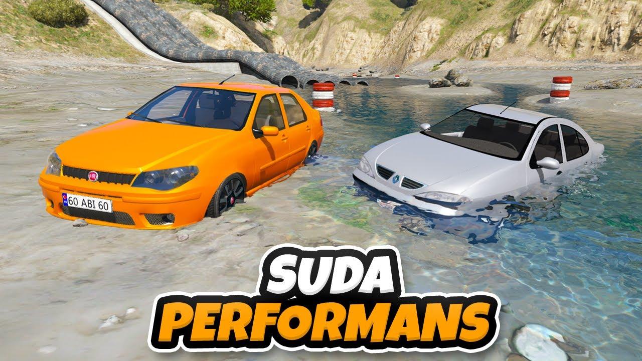 Sevilen Güçlü Arabalar Yeni Suda Performans Test Bölgesinde - GTA 5