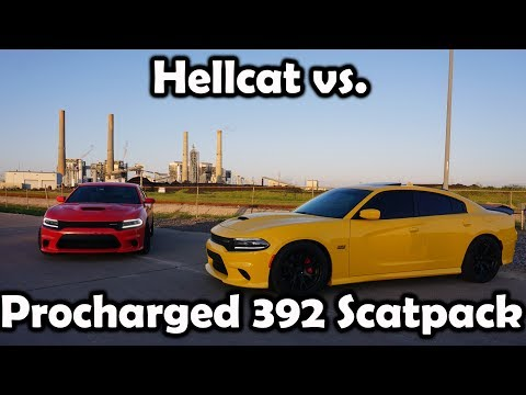 My 630whp Procharged Scatpack vs. 680whp Hellcat to 150+