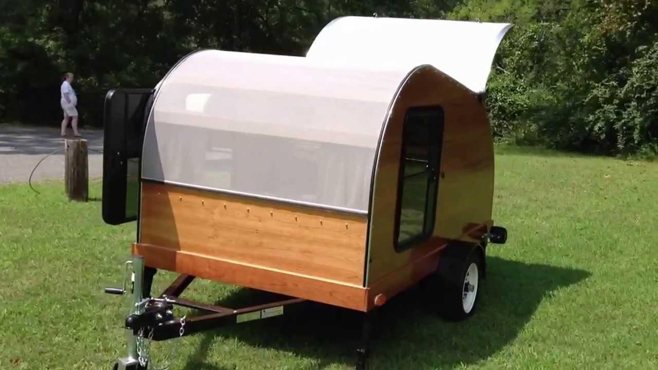 5x8 Cherry Hillcrest Convertible Teardrop Camper Hybrid