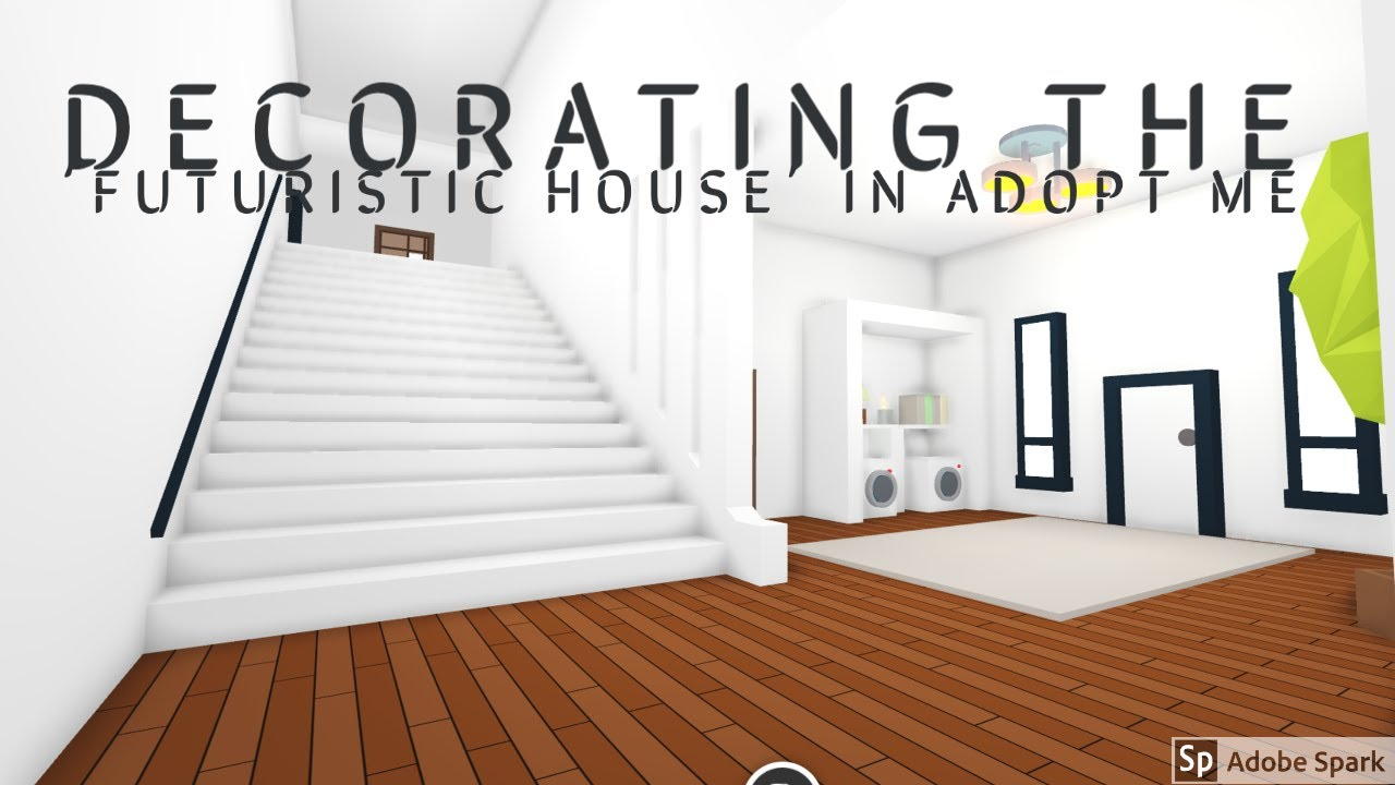 Building My Futuristic House Roblox Adopt Me Part 1 Youtube